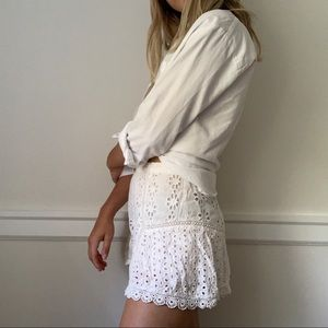 Lovers and Friends Eyelit Shorts